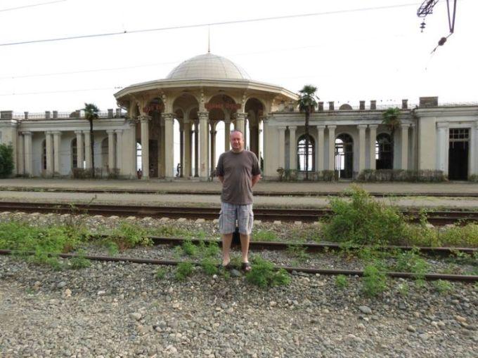 ЖД вокзал Новый Афон не восстановлен после войны