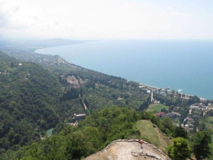 Вид с вершины Крепости Новый Афон