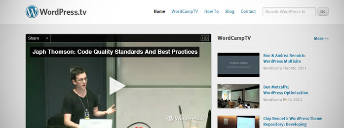 WordPress против Joomla: Поддержка и сообщества WordPress.tv